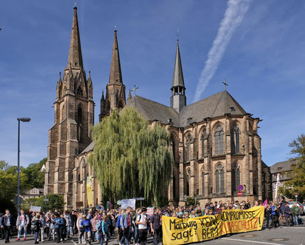Andreas Maria Schäfer, Fotografiewelten,Fotograph1956,Marburg,Elisabethkirche,Demonstration,Fridays for Future,Klimawandel