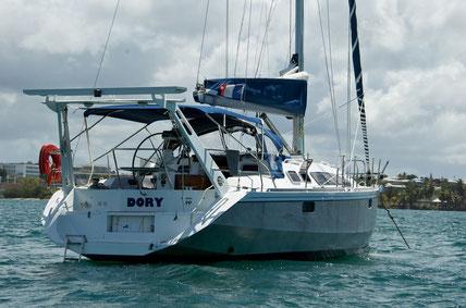 Unser erstes selbst gechartertes Boot (Alubat Ovni 36)