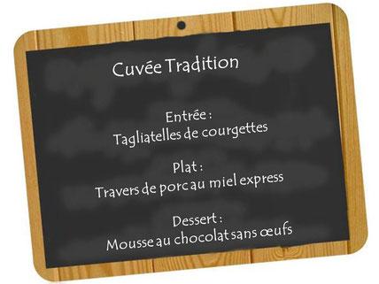 Accords mets et vins cuvée Tradition