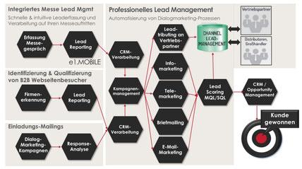 Integrierter Leadmanagementprozess von der Leadgenerierung bis hin zur Leaddistribution