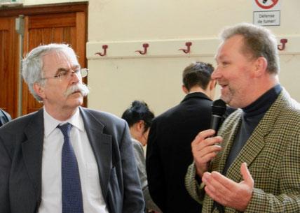 Gérard SEIMBILLE (g.) et Robert BOITELLE (d.), vice-président de la Chambre d'agriculture de l'Aisne lors du Conseil d'administration d'octobre 2011 suite à la mise en oeuvre du protocole de surinondation de Proisy.