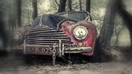 Lost Place, Auto, alt, vintage, friedhof, DJ, pictures, Dirk Just, DJpictures, auto, alt,