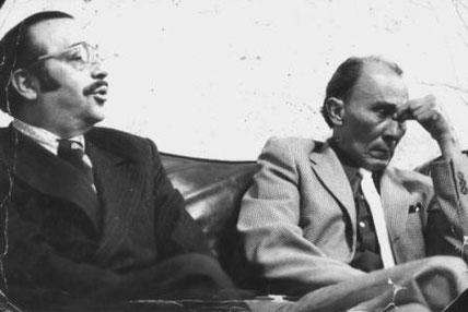 José Barros y el compositor Jorge Villamil.