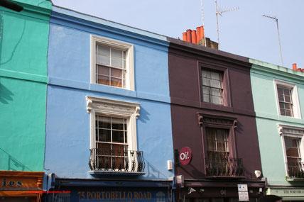 Dieses kleine Haus auf der Londoner Portobello Road ist eher eine Zweizimmerwohnung in der Vertikalen. Teuer und heiß begehrt.