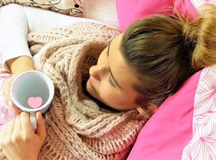 Viel Ruhe ist bei einer Krankheit immer sehr wichtig.