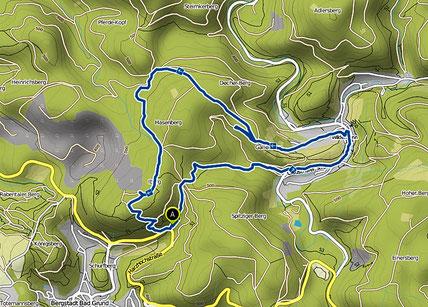Bild: Karte der Wanderung im Harz -Widermann, Iberg