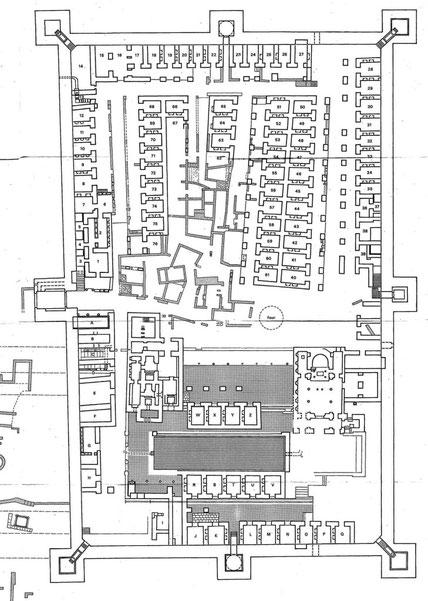 Timgad (Thamugadi) : Plan de la forteresse byzantine