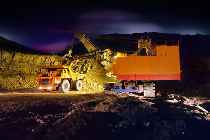 truck loading operations at night