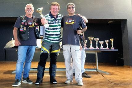 Unser Pokal für die weiteste Anreise zum Motorradtreffen in Campogalliano