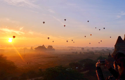 Balloons over Bagan, Myanmar, datewithplaces 2017