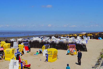 Der Sandstrand in Cuxhaven direkt vor der ferienwohnung Duhnen