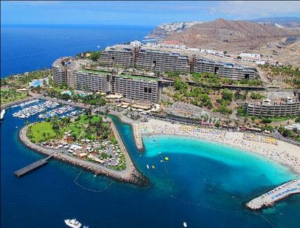 playa de amadores en Las palmas de Gran Canaria