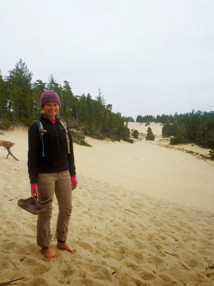 Exploring the Oregon dunes near Honeyman campground