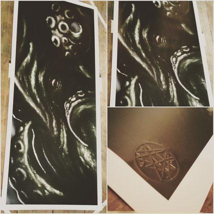 Cthulhu Kraken Dark Art Kunst