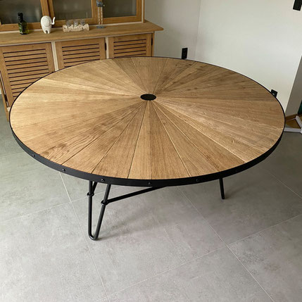 Woodleather - Table ronde