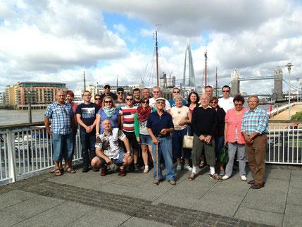 Die Mannschaft 2013 in London - ermöglicht durch Zuschüsse des Fördervereins