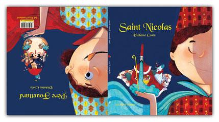 violaine costa illustration couvertures Saint nicolas et Pèere fouettard livre pour enfants aux éditions père Fouettard.