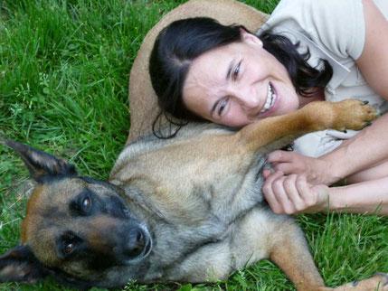 Stephi Riedel lebt gerne mit ihren Hunden