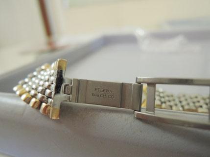 ベルトがすぐ取れて落下してしまう、腕時計ベルト修理。スイス製エテルナ時計修理