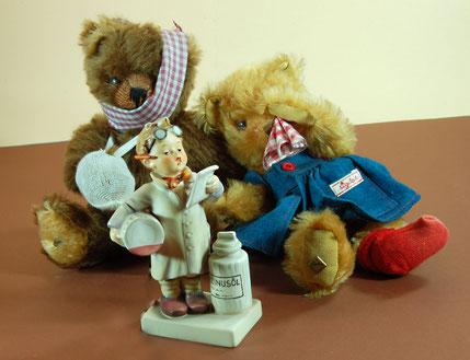 Teddybären aus der Sammlung Fellberg, © Dr. Ursula Fellberg