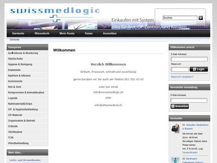 SwissMedLogic AG Webshop