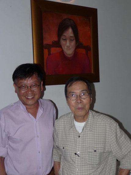 2011. SAIGON. AVEC LE PEINTRE DINH CUONG CHEZ LE COMPOSITEUR PACIFISTE TRINH CÔNG SON.(1939-2001). C*N.K.K