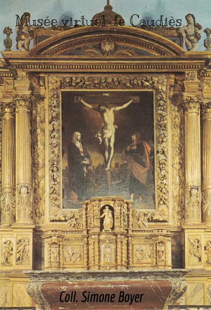 Rétable de l'Eglise Paroissiale: Carte postale vers 1980