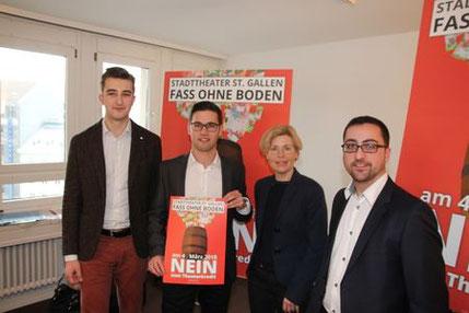 Noah Menzi, Sascha Schmid, Esther Friedli und Lukas Grossenbacher.