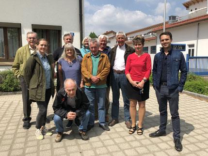 Mitglieder der SPD-Taufkirchen auf Klausur