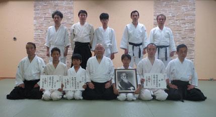 少年弐級、五級と成人弐級が、道主より授与されました。