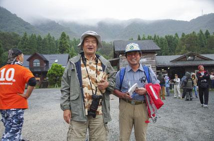 小誌好評連載「琵琶湖の魚の不思議と謎」を執筆いただいている琵琶湖博物館の桑原先生(右)と、『川に生きる 世界の河川事情』(中日新聞社刊)が大絶賛発売中の新村安雄さんも参加されてました