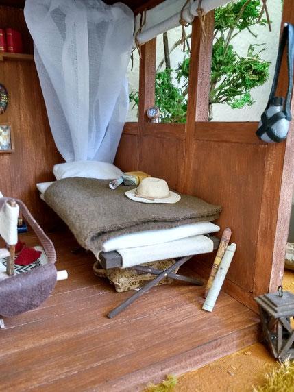 Miniatur Camping Bett