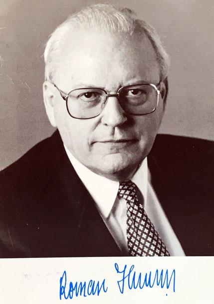 Autograph Roman Herzog Autogramm