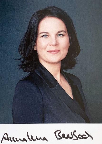 Autograph Annalena Baerbock Autogramm
