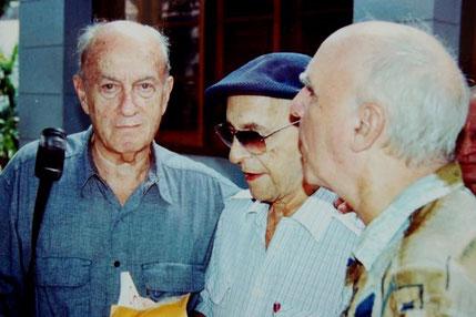 Cristóbal Díaz Ayala, Leonardo Acosta y Helio Orovio.