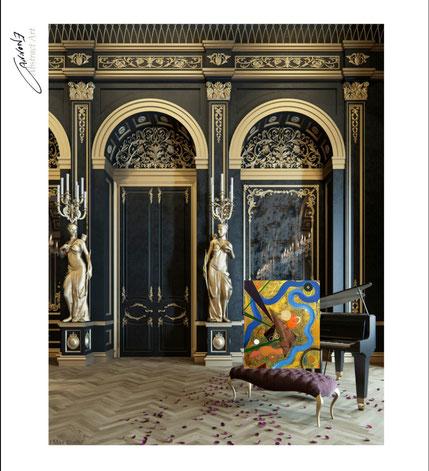Raff  tecnica mista su tela 58x68x4 francesco cannone artista pittore abtract artist painter