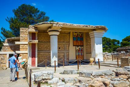 Cnossos; Creta; Grecia; Minos; Palacios; frescos cretenses; arqueología; Mediterráneo;