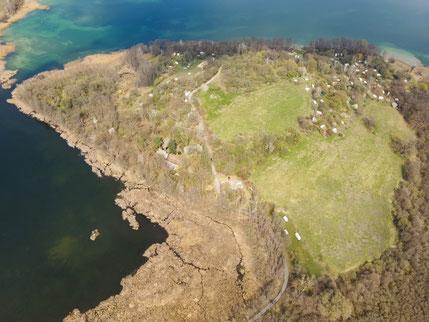 ©Oderbruch-blog Oderbruch Barnim Halbinsel Pehlitzwerder aus der Vogelperspektive