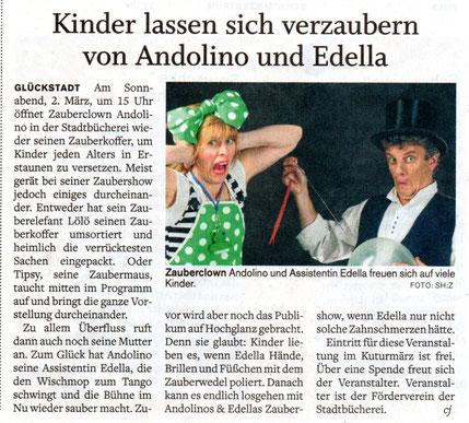 Kinder lassen sich verzaubern von Andolino und Edella