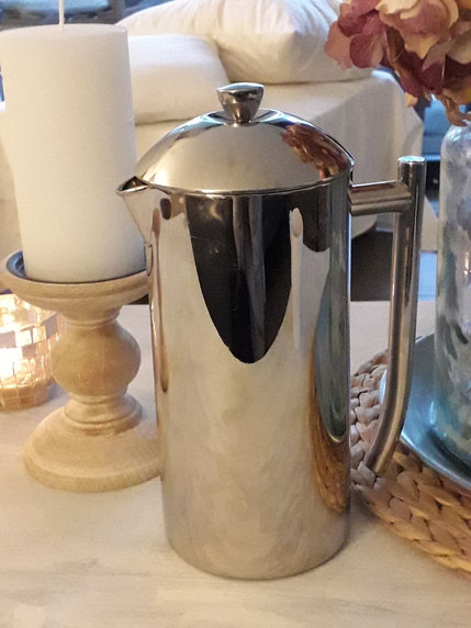 Stabfilterkanne - Plastikfreie Kaffeemaschine, zerowaste, Frenchpress