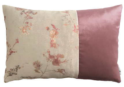 Kissen rosa/beige, Samt