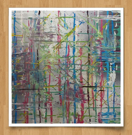 Farbexplosion  70 x 70cm  Acryl auf Leinwand  Euro 290,--   -verkauft-