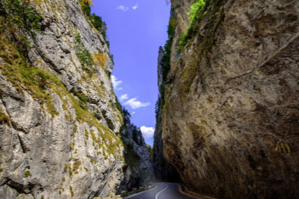 Winding through Bicaz Gorges