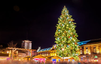 Christmas tree at a famous Christmas Market in Strasbourg, 2015 Copyright Leonid Andronov