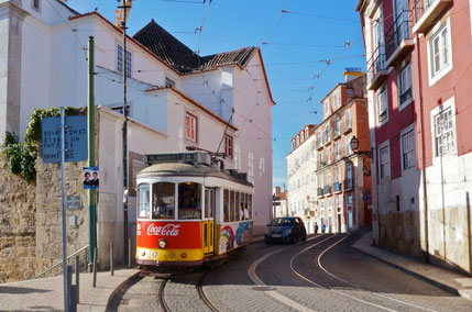 Tram in Lisbon Copyright Tim Wang