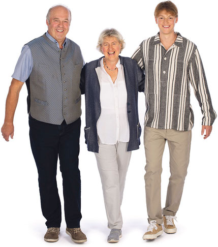Familie Meßmer: Josef, Hannelore und Benedikt (von links nach rechts)