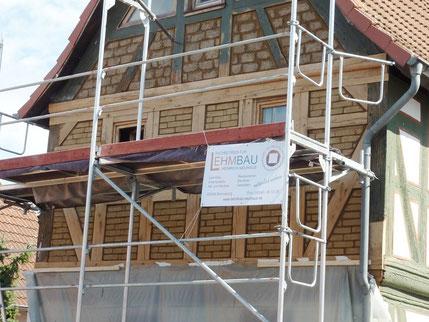 Fachwerkhaus Gefache mit Lehmsteinen ausmauern