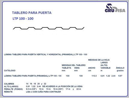 TABLERO PARA PUERTA LTP 100 - 100