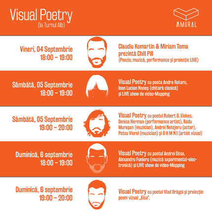 Amural - Visual Poetry, Facebook event calendar.