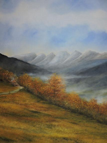 Berge Landschaften Landschaftsbilder Daniel Gisler Kunstmaler Toggenburg Krinau